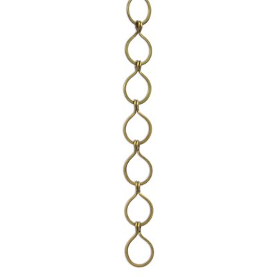 Sleek Unwelded Fixture Chain Finish: Antique Brass