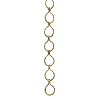 Sleek Unwelded Fixture Chain Finish: Antique Brass