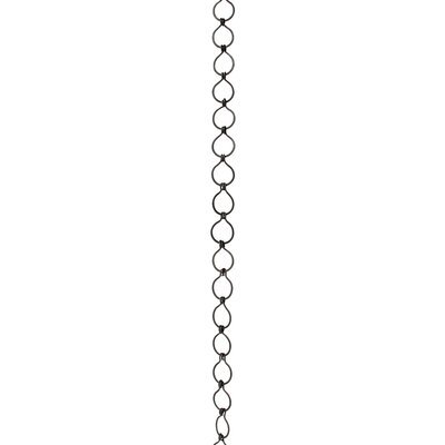 Sleek Unwelded Fixture Chain Finish: Oil Bronzed Black