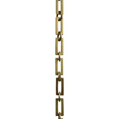 Rectangular Unwelded Decorative Fixture Chain Finish: Antique Brass