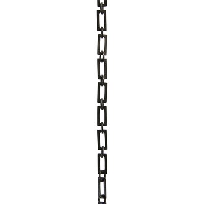 Rectangular Unwelded Decorative Fixture Chain Finish: Oil Bronzed Black
