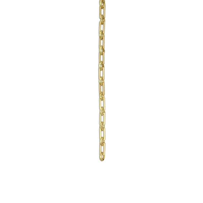 Rectangular Unwelded Decorative Fixture Chain Finish: Polished Brass