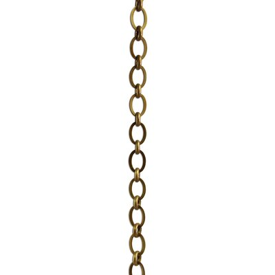 Oval Un-Welded Link Chain Finish: Antique Brass