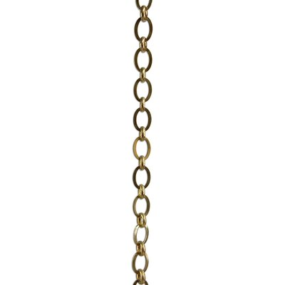 Oval Un-Welded Link Solid Brass Chain Rings Finish: Polished Brass