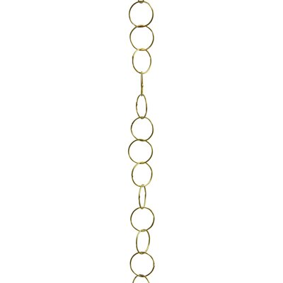 Round Wire Decorative Fixture Chain Finish: Polished Brass