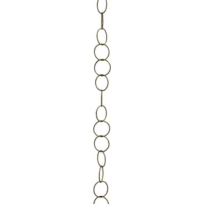 Round Wire Decorative Fixture Chain Finish: Antique Brass