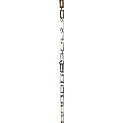 Rectangular Unwelded Decorative Fixture Chain Finish: Polished Nickel