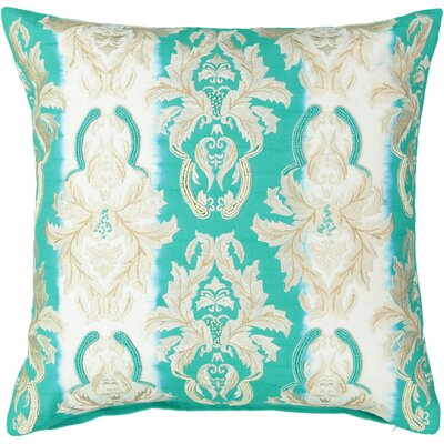 Belaire Fleur De Lis Embroidery 100% Cotton Throw Pillow
