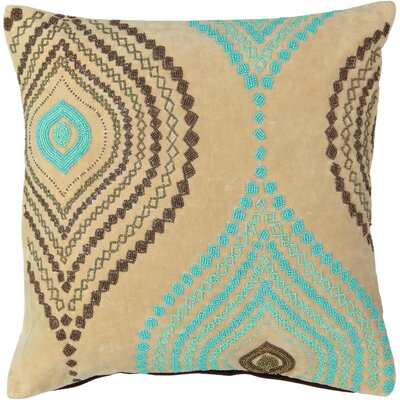 Benter Ogee Beads Velvet 100% Cotton Throw Pillow