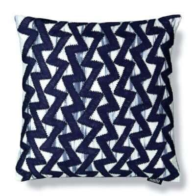 Zigzag Tie Dyed Embroidery Cotton Throw Pillow