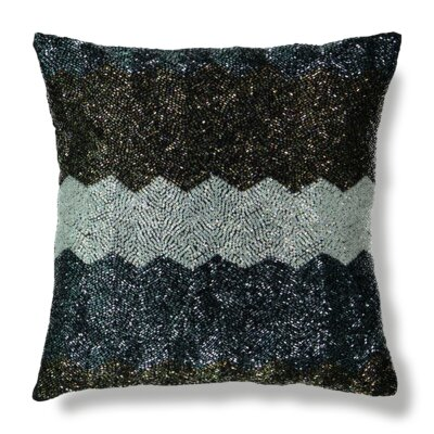All-Over Beaded Throw Pillow