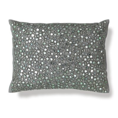 All-Over Mirror Embroidery Lumbar Pillow