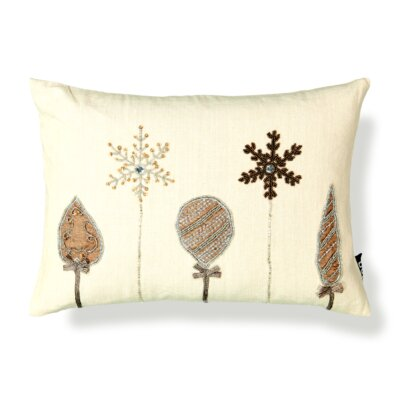 Bead Ornament Embroidery Lumbar Pillow