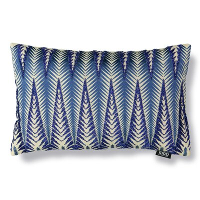 Pine Beaded Embroidery Linen Lumbar Pillow