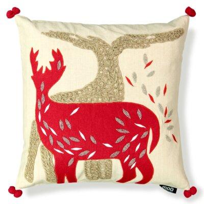 Felt Reindeer Throw Pillow