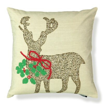 Beads Reindeer Throw Pillow