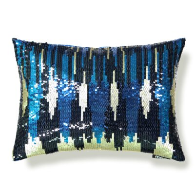 All-Over Sequin Skyline Lumbar Pillow
