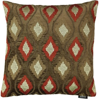 Belafonte Diamond Embroidery 100% Cotton Throw Pillow