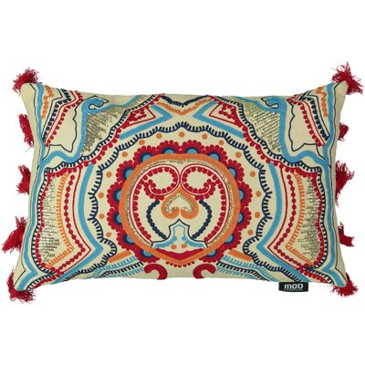 Queens Embroidery 100% Cotton Lumbar Pillow