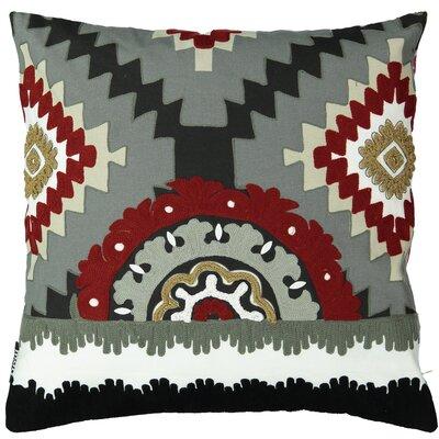 Salguero Aztec Embroidery Square 100% Cotton Throw Pillow