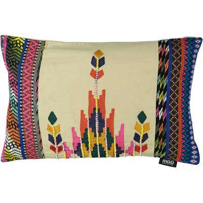 Queens Ethnic Empire Embroidery 100% Cotton Lumbar Pillow