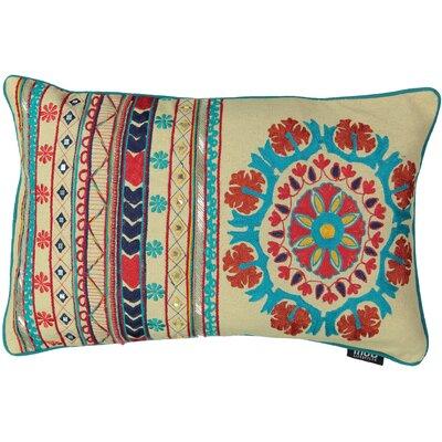 Queens Santa Fe Embroidery 100% Cotton Lumbar Pillow
