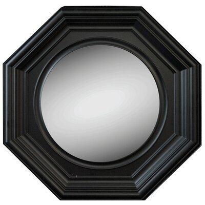 Octagon Black Accent Mirror