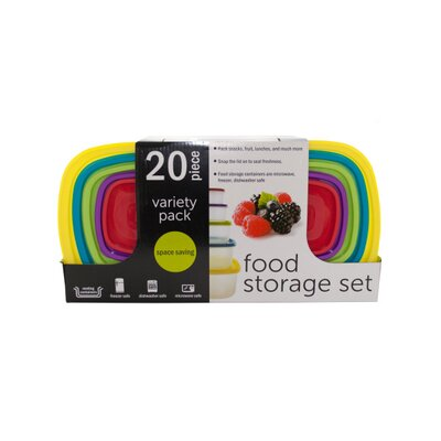 20-Piece Variety Pack Food Storage Containers Set REBR2270 39473826