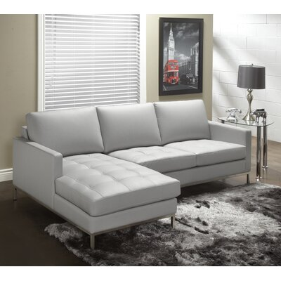 244 Series Leather Sectional Upholstery: Slate, Orientation: Left Hand Facing
