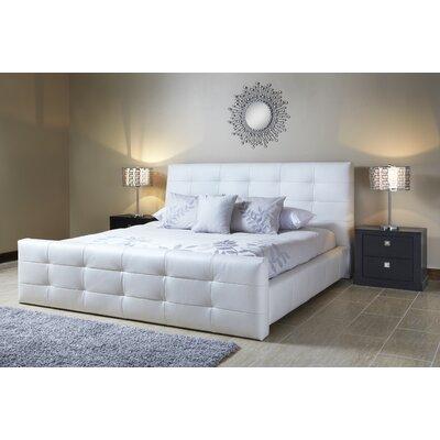 Upholstered Platform Bed Upholstery: Linen, Size: King