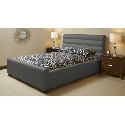 Upholstered Platform Bed Size: King, Upholstery: Grey
