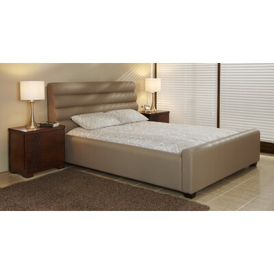 Upholstered Platform Bed Upholstery: Mushroom, Size: Queen