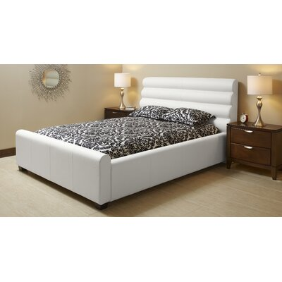 Upholstered Platform Bed Size: King, Color: Polar White