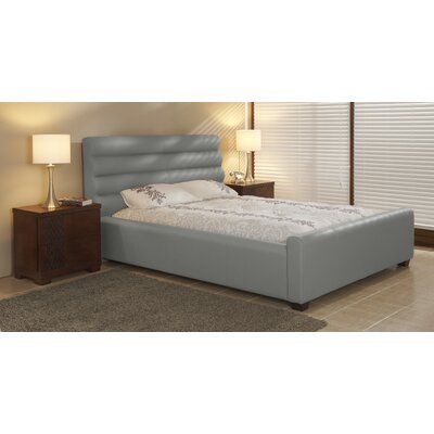 Upholstered Platform Bed Size: Queen, Color: Slate