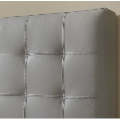 Estelle Top Grain Upholstered Panel Headboard Upholstery: Slate, Size: Queen
