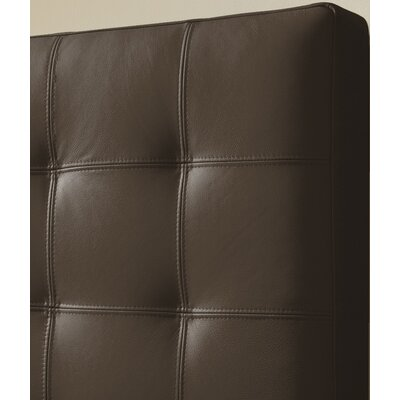 Estelle Top Grain Upholstered Panel Headboard Size: Double, Upholstery: Brown