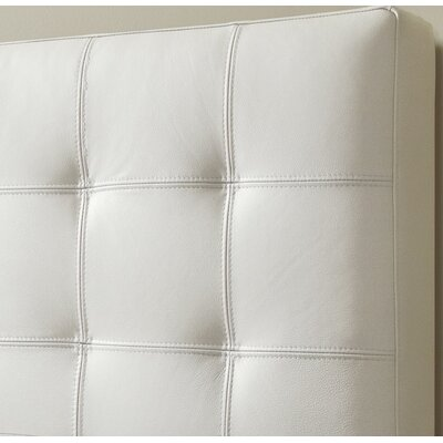 Estelle Top Grain Upholstered Panel Headboard Size: Double, Upholstery: Linen