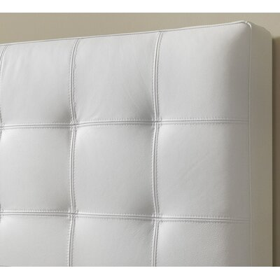 Estelle Top Grain Upholstered Panel Headboard Upholstery: Polar White, Size: Double