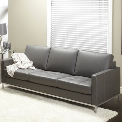 244 Series Regency Leather Sofa Upholstery: Grey