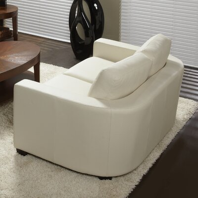 Marquis Top Grain Leather Loveseat Upholstery: Linen
