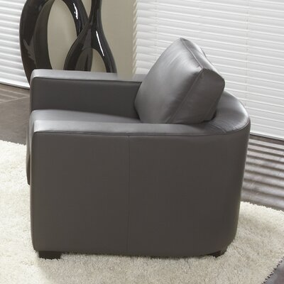 Marquis Top Grain Leather Armchair Upholstery: Grey
