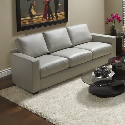Marquis Top Grain Leather Sofa Upholstery: Slate