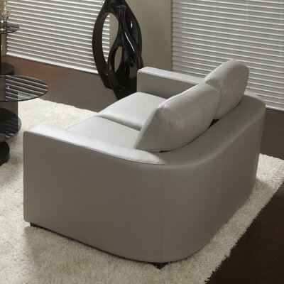Marquis Top Grain Leather Loveseat Upholstery: Slate