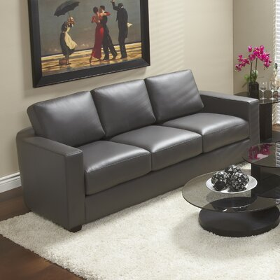 Marquis Top Grain Leather Sofa Upholstery: Grey