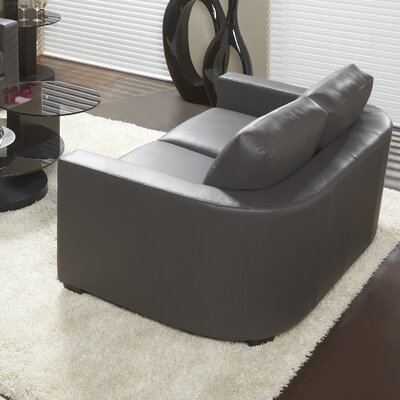 Marquis Top Grain Leather Loveseat Upholstery: Grey