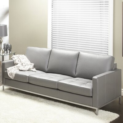 244 Series Regency Leather Sofa Upholstery: Slate