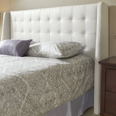 Sierra Top Grain Wingback Headboard Size: King, Upholstery: Linen