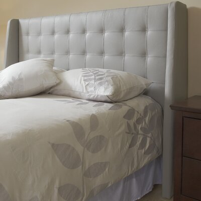 Sierra Top Grain Wingback Headboard Size: King, Upholstery: Slate
