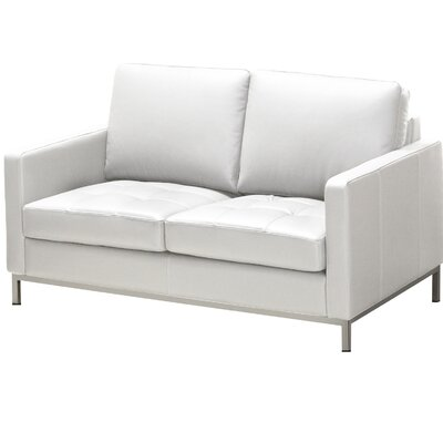 244 Series Regency Leather Loveseat Upholstery: Polar White