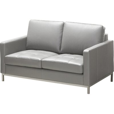 244 Series Regency Leather Loveseat Upholstery: Grey